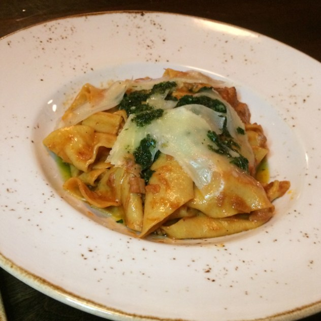 house-made pappardelle with slow-braised veal Baltimore Local