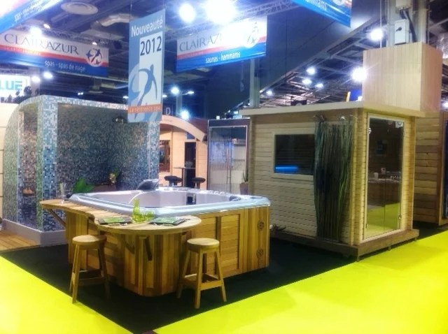 Stand spa sauna hammam clair azur salon de la piscine et for Salon stand