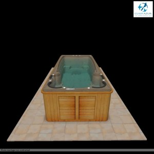 spa de nage en simulation 3D