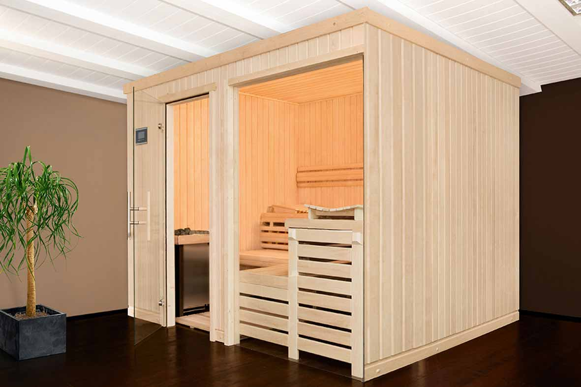 le sauna design dernier n de la gamme de saunas clair azur. Black Bedroom Furniture Sets. Home Design Ideas