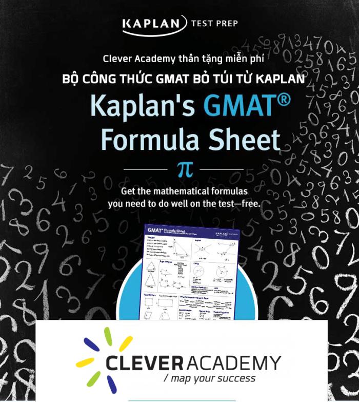 GMAT Formula Sheet: Bộ công thức không thể thiếu từ Kaplan!