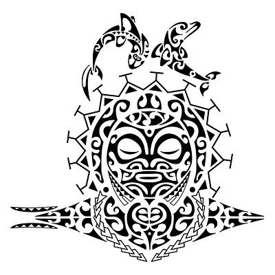 tipico tatuggio Maori