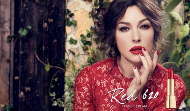 Monica-bellucci-in-Dolce-and-gabbana-makeup-Classic-Cream-Lipstick-advertising-campaign