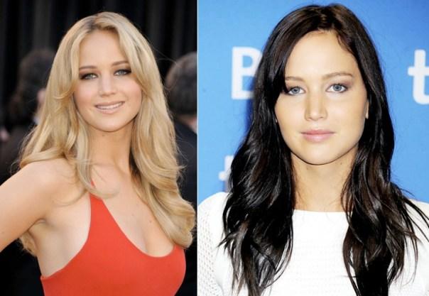 Jennifer Lawrence è naturalmente bionda e questo colore le si addice più del nero, scelto per esigenze di copione