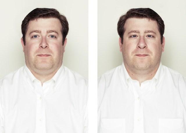 questo signore sembra persino strabico con il viso simmetrico!