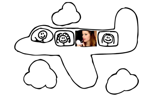 Clio_viaggio-makeup-estero-aereo