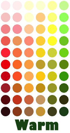 L'insieme dei colori caldi