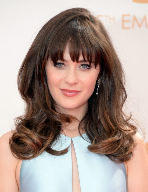 2014-Zooey-Deschanel-Hairstyles-–-Long-Hairstyle-with-Bangs