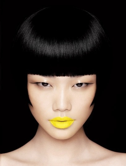 make-up-halloween-idee-giallo-rossetto