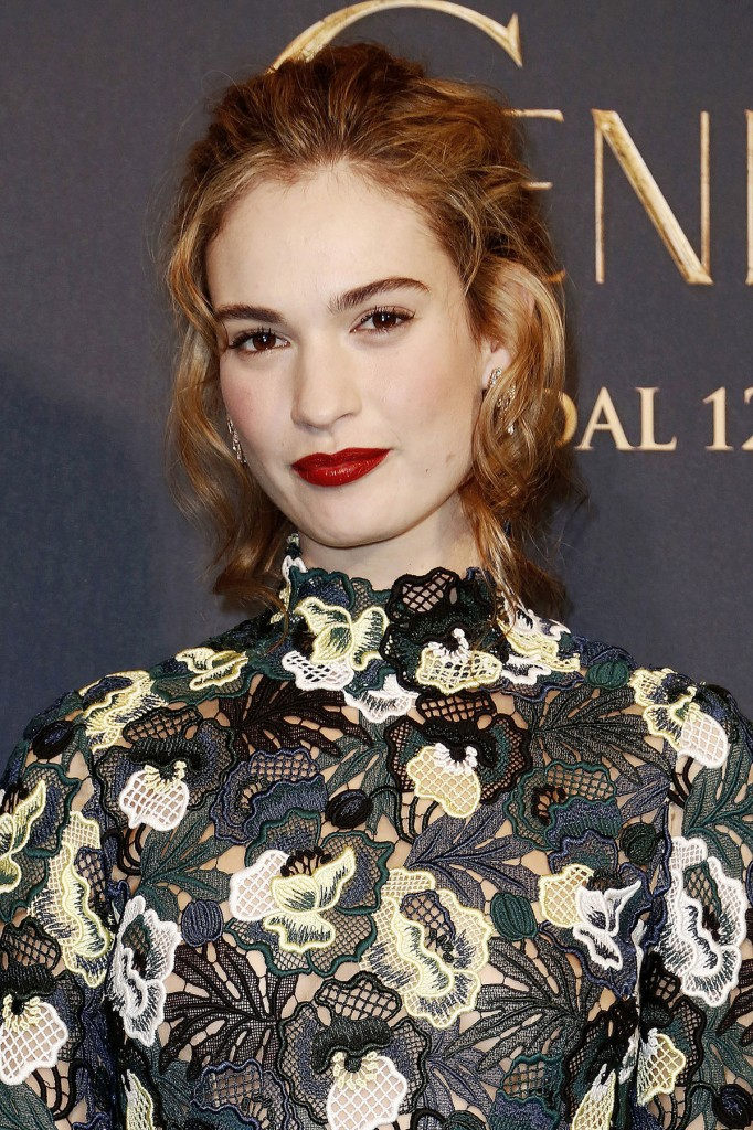 LILY JAMES at Cinderella Premiere