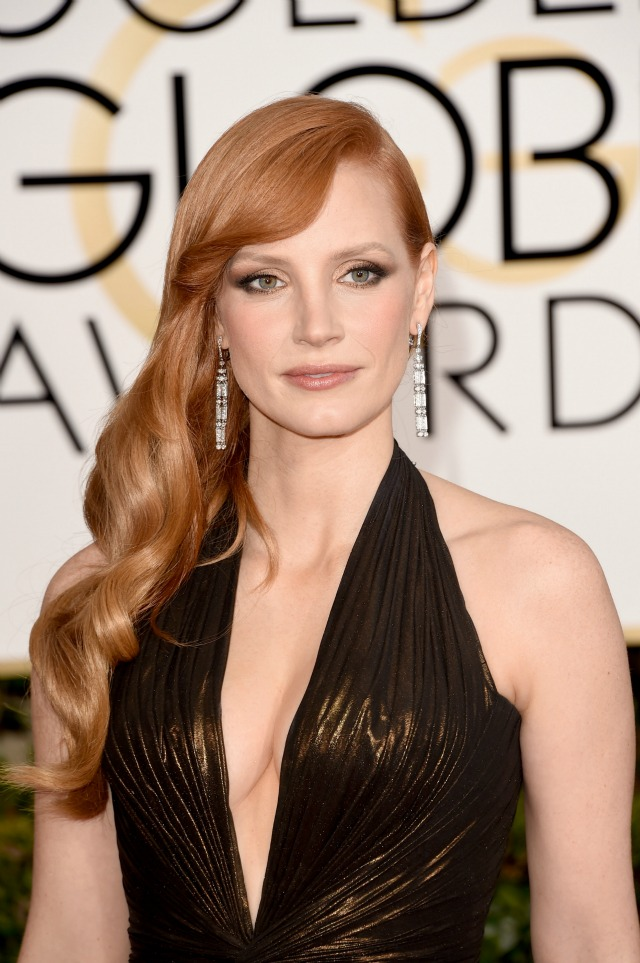 Jessica-Chastain-2015-Golden-Globes-best-makeup-hair