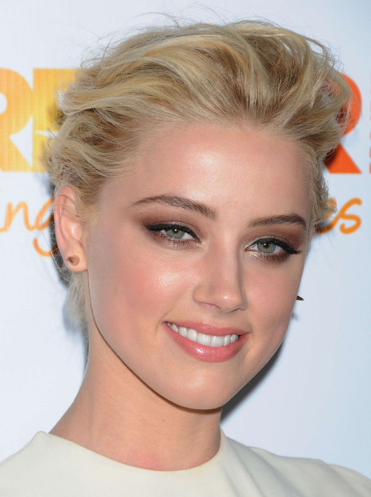 Amber Heard - White Dress at The Trevor Projects 2011in LA-03