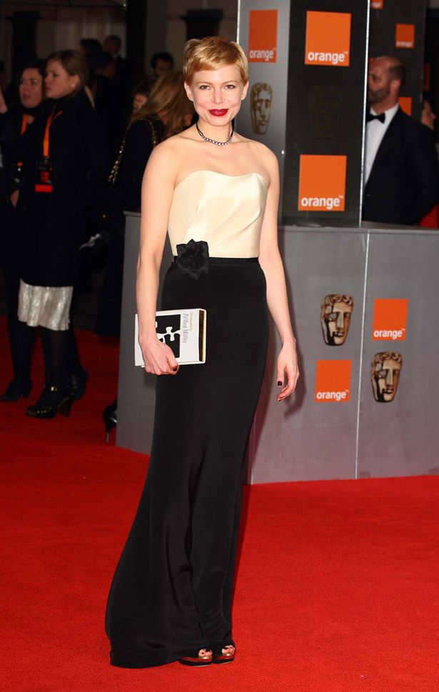 Michelle Williams attends the BAFTAS