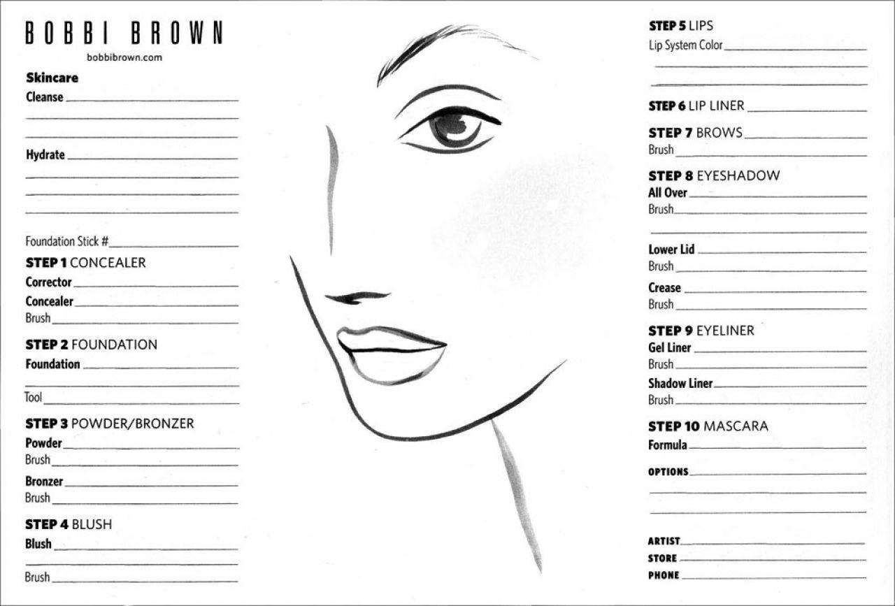bobbi brown face chart related keywords suggestions bobbi brown