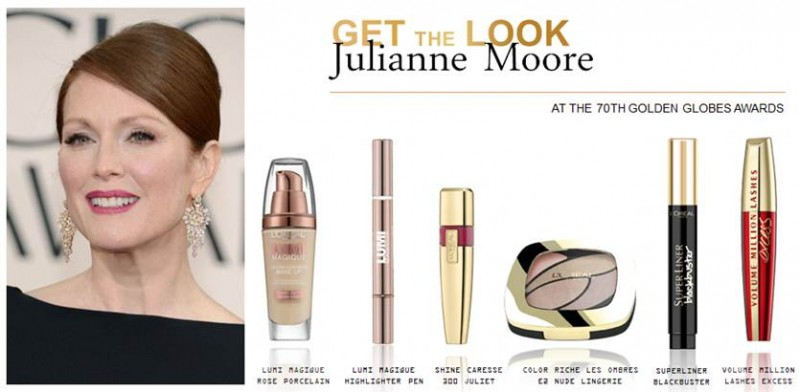 JulianneMooreGoldenGlobes2013MakeupLook
