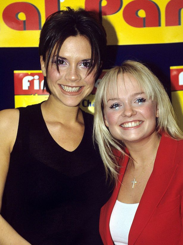 WALT DISNEY CHANNEL'S 'CHILDREN AWARDS' LONDON BRITAIN 1998 POSH BABY SPICE VICTORIA ADAMS BECKHAM EMMA BUNTON GIRLS