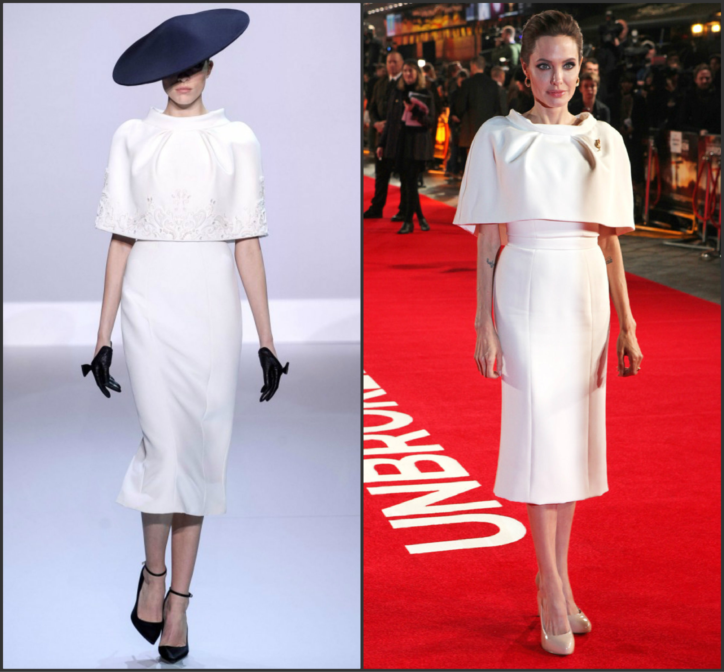 ANGELINA JOLIE WEARS RALPH & RUSSO COUTURE