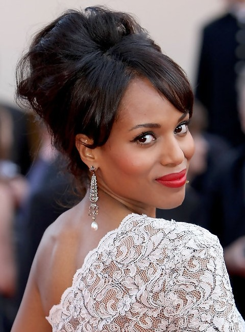 Kerry-Washington-Hairstyles-Gorgeous-French-Twist