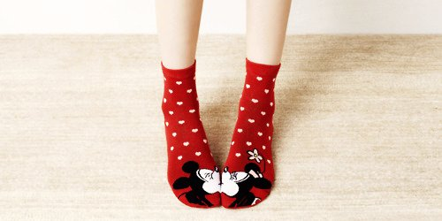 cute mickey mouse socks for adorable girls-f03499