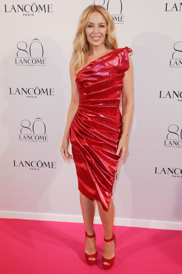 FAMEFLYNET - Celebrities Attend Lancome's 80th Anniversary Party In Paris