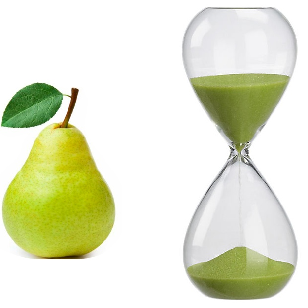 pear vs hourgalss