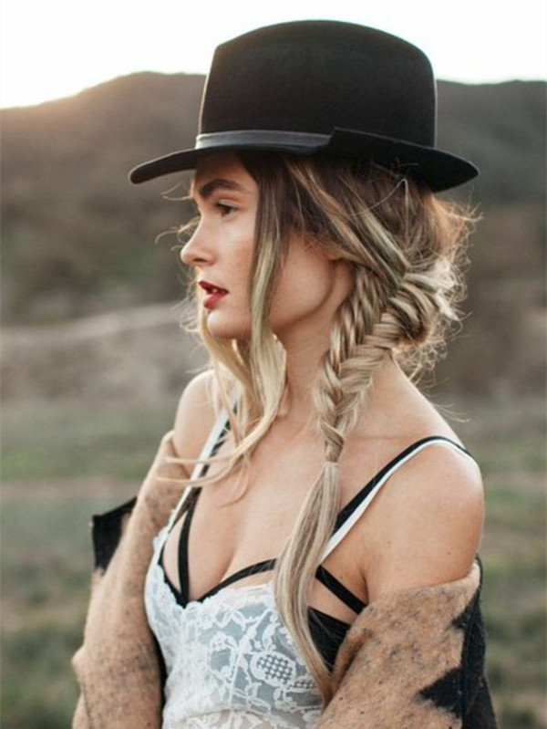 side-braid-with-hat-cool-boho-hairstyle-2015-summer