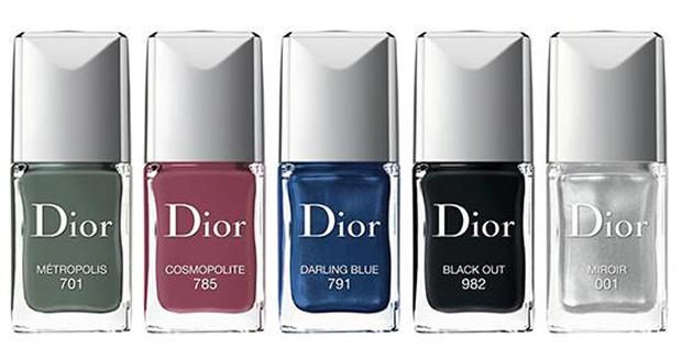 – 001 Miroir, argento; – 701 Metropolis, khaki; – 785 Cosmopolite, rosa malva; – 791 Darling Blue, blu jeans; – 982 Black Out, nero assoluto.