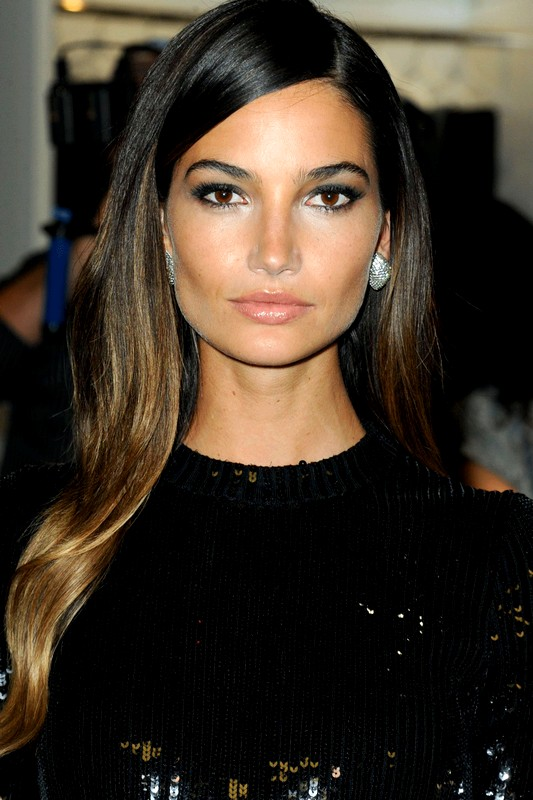 Lily-Aldridge-Ombre-Long-Hairstyles