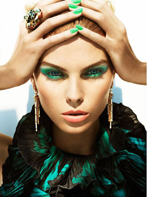 Maryna-Linchuk-by-Alexi-Lubomirski-for-Allure-August-2012-green-makeup-look