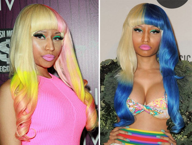 Nicki_Minaj_pastel_rainbow_hair_color_trend