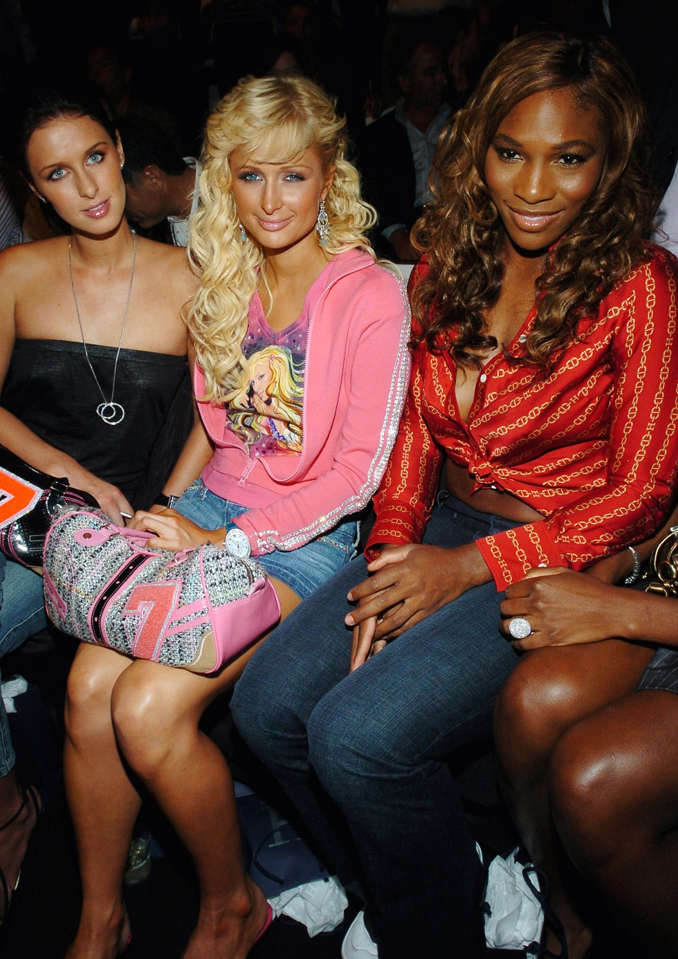 Nicky Hilton, Paris Hilton and Serena Williams, 2004