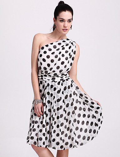 12 ts chiffon a pois monospalla altalena vestito_lightinthebox