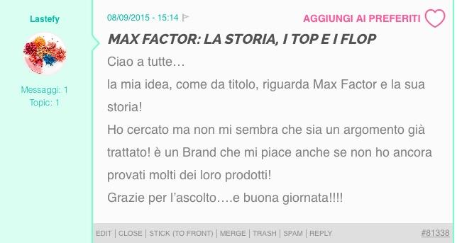 top flop max factor