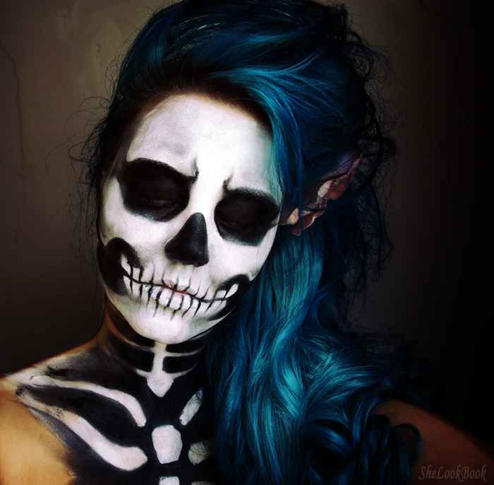www.shelookbook.comHalloween-Best-Cavalera-Makeup-Sugar-Skull...sugar-skull-makeup-kitmakeup-kit-water-makeup-worst-beauty-bloggers-black-eye-dark-gray-to-blend-cheekbones