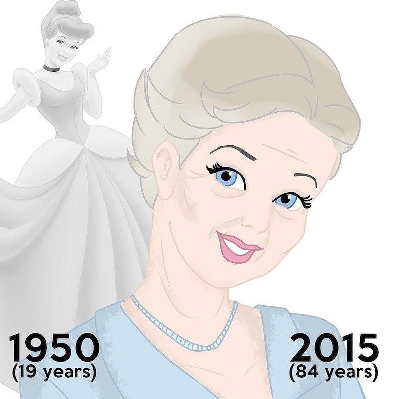 Cliomakeup-principesse-disney-vecchie-invecchiate-attrici-cinderella