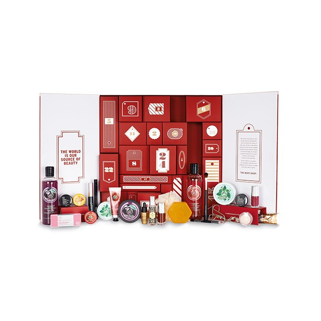 _cliomakeup_calendario avvento_the body shop_rosso