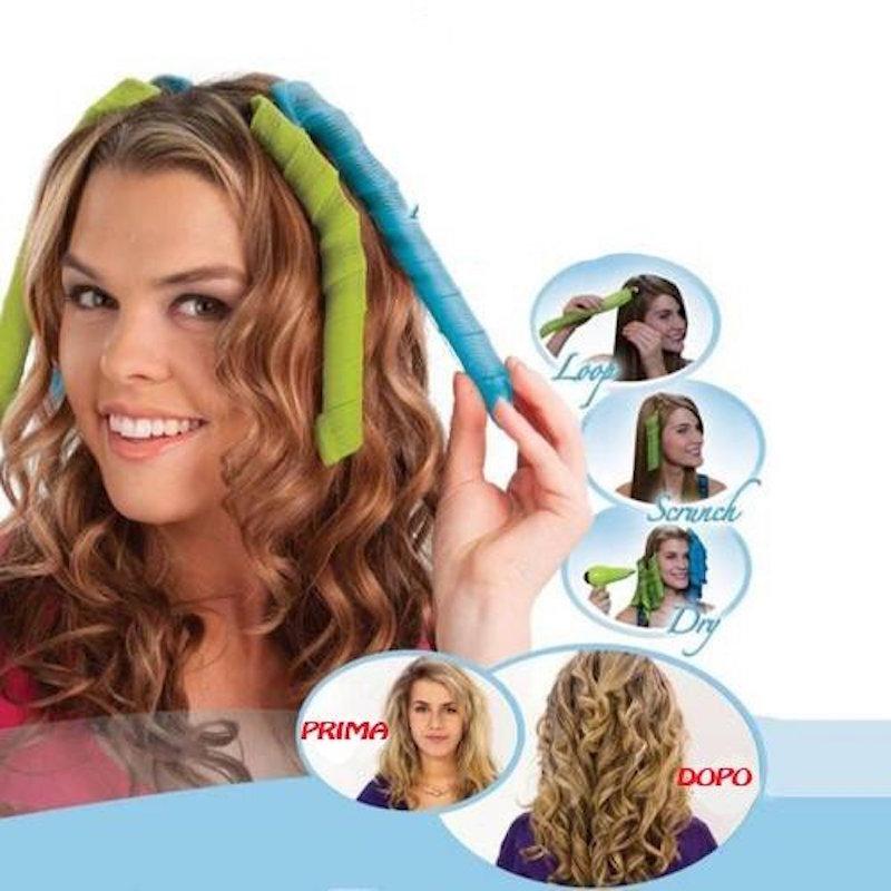 Bigodini grandi per capelli lunghi