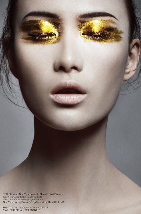 _cliomakeup_Glass Magazine, Issue #11 (Autumn 2012). Photo by Bojana Tatarska. Hair by Yusuke Taniguchi. Make-up by Alice Ghendrih.