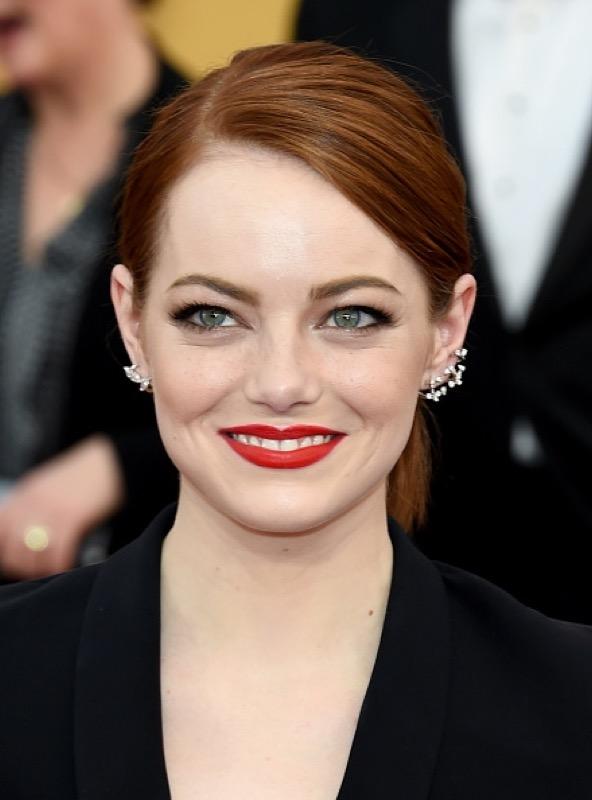 Emma Stone rossetto rosso
