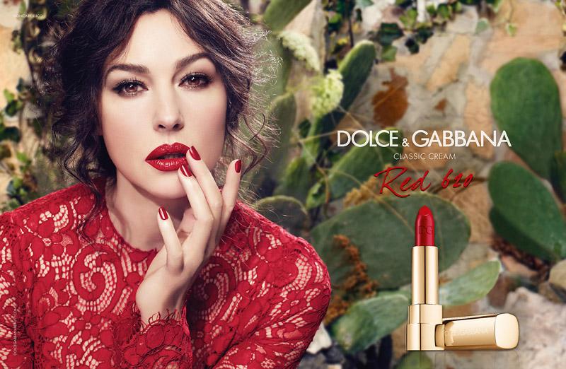 D&G Monica bellucci rossetto rosso