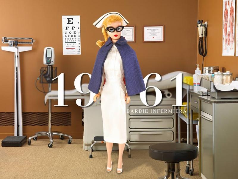 ClioMakeUp-Barbie-evoluzione-taglie-altezze-curvy-petite-tall-nuove-1961-infermiera