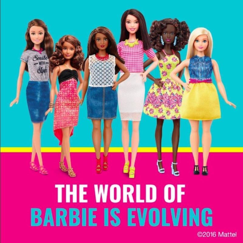 ClioMakeUp-Barbie-evoluzione-taglie-altezze-curvy-petite-tall-nuove-carngioni-mondo-barbie