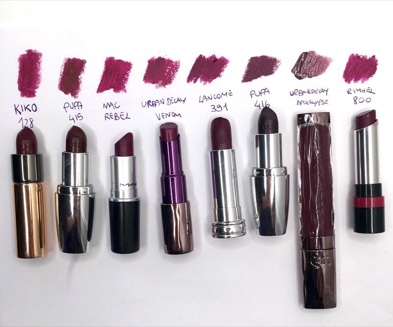 ClioMakeUp-viola-rossetti-migliori-top-preferiti-look-abbinare-swatch-bianco