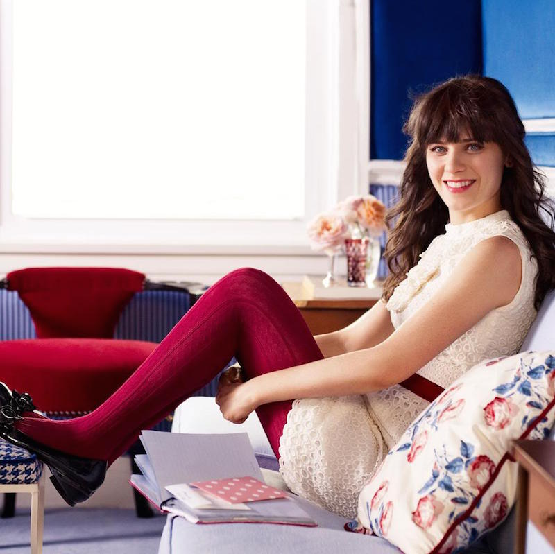 ClioMakeUp-collant-calze-pile-calde-lana-colorate-fantasia-come-zooey-deschanel-jess-day
