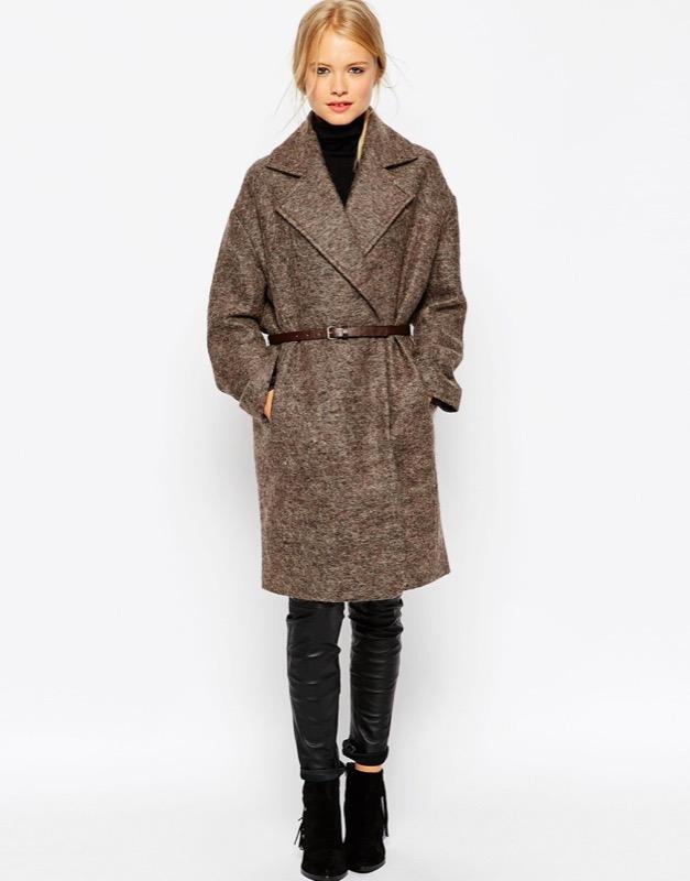 ClioMakeUp-moda-cappotto-maglione-guanti-cappa-caldo-inverno-2016-saldi-asos-cocoon-melange-cintura