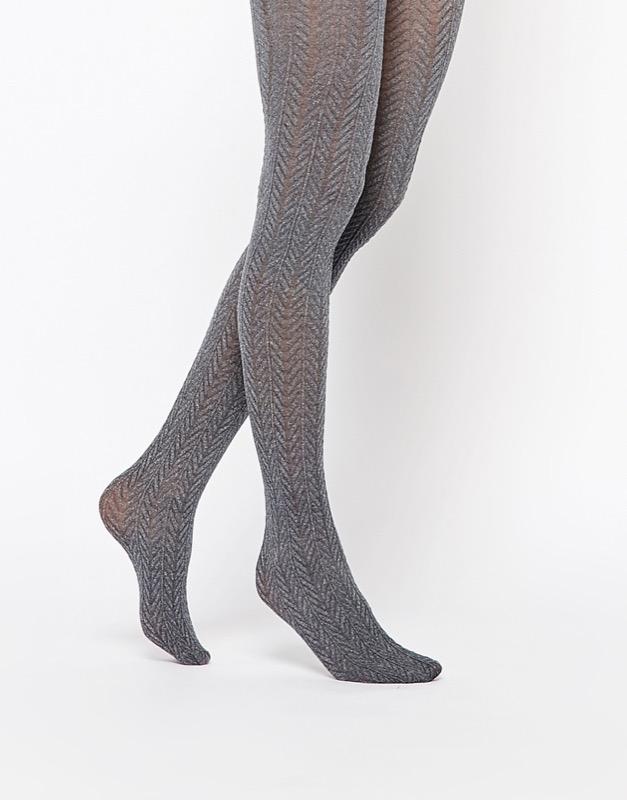 ClioMakeUp-collant-calze-pile-calde-lana-colorate-fantasia-come-lana-tricottage-trecce-grigio-asos