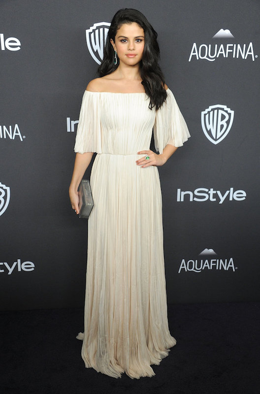 ClioMakeUp-golden-globes-after-party-2016-selena-gomez-vestito
