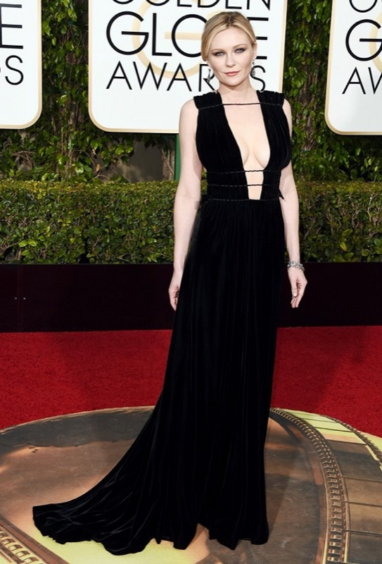 ClioMakeUp-golden-globes-star-red-carpet-beauty-look-kirsten-dust-valentino