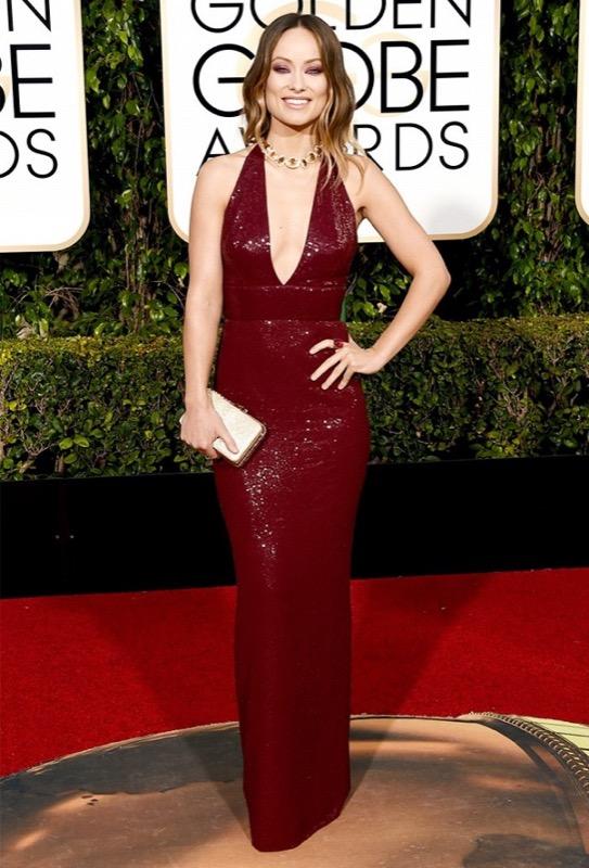 ClioMakeUp-golden-globes-star-red-carpet-beauty-look-olivia-wilde-michael-kors