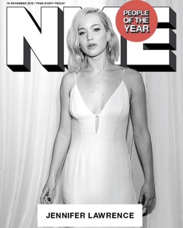 ClioMakeUp-persone-anno-2015-sexy-vestita-modella-NME-jennifer-lawrence